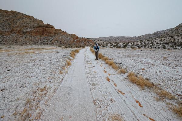 Avant de quitter Page pour Monument Valley, on part faire une randonnée que nous avions beaucoup aimé en juin, Edmaieŕs secret