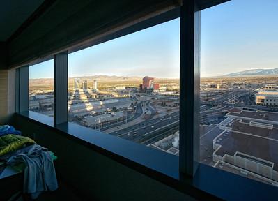 la vue de notre suite, le matin