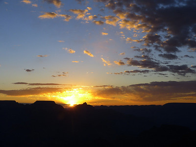 2014 12 avril Lever Soleil GC + Sunset Crater