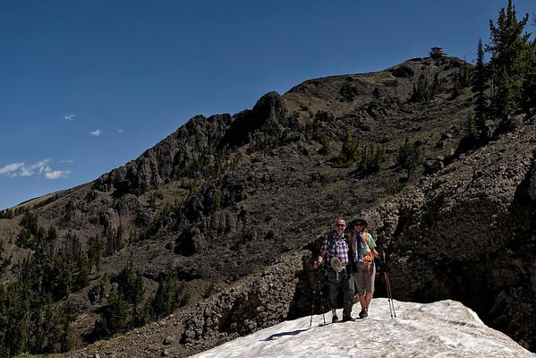 Le Mt Washburn en haut à droite. Il faut grimper.