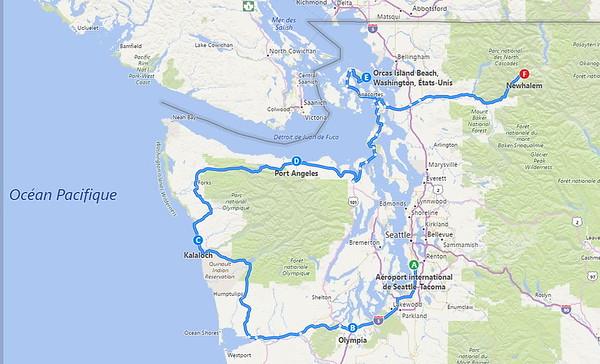 Première partie: Olympic NP, Orcas Island et North Cascades NP