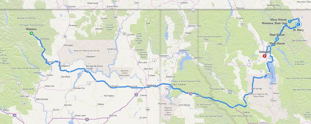 Deuxième partie: North Cascades NP et Glacier NP