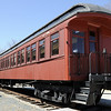 Antique rail-car at Contoocook in New Hampshire