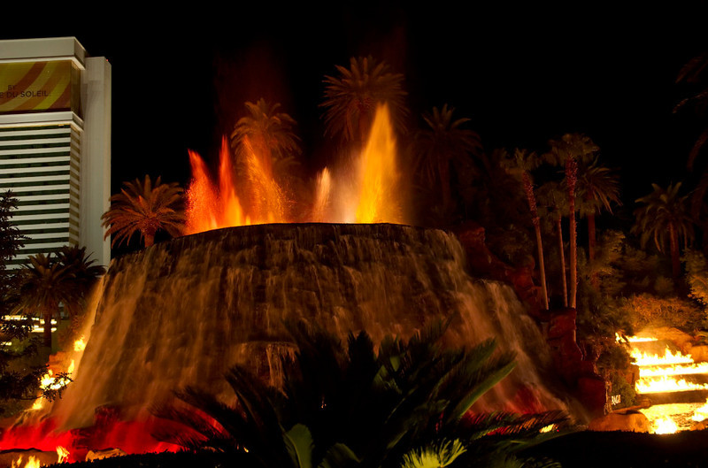 Strip show 5: Mirage volcano.  Las Vegas, September 2006