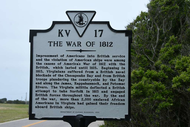 Anglo-American war of 1812, Cape Henry, Virginia, 21 May 2017.
