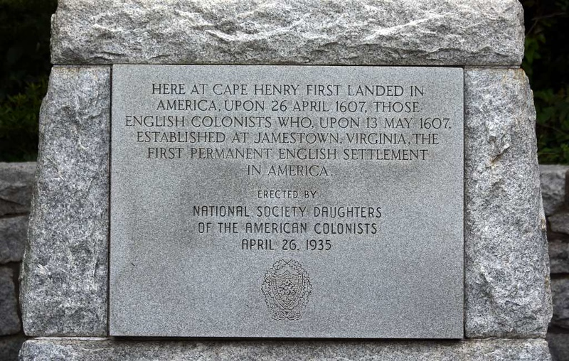First landing memorial, Cape Henry, Virginia, 21 May 2017 1. The colonists had set sail on 20 December 1606 - as winter started.  Their voyage lasted no less than 144 days, including calls at the Canary Islands and Puerto Rico.