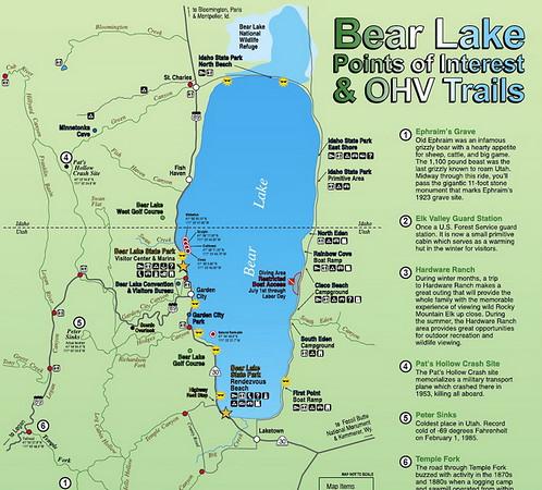 """Petit détour par Bear lake, avant """"d'attaquer"""" Logan Canyon"""