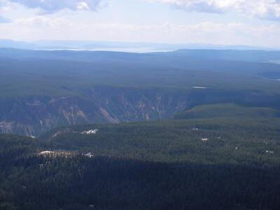 Le Canyon de Yellowstone plein sud