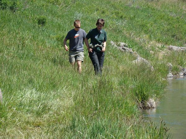 petit arret à  Warm River, une partie de la  Mesa Fall scenic, il y a des truites splendides