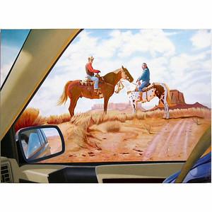 """J'aime particulièrement celui là: Monument Valley Reflections 46"""" x 64"""", yr. 1997 Acrylic on Linen Maurice Turetsky"""