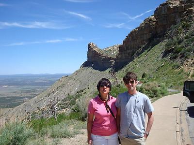 Françoise et Antoine. Nous quittons l'overlook pour aller au visitor center.