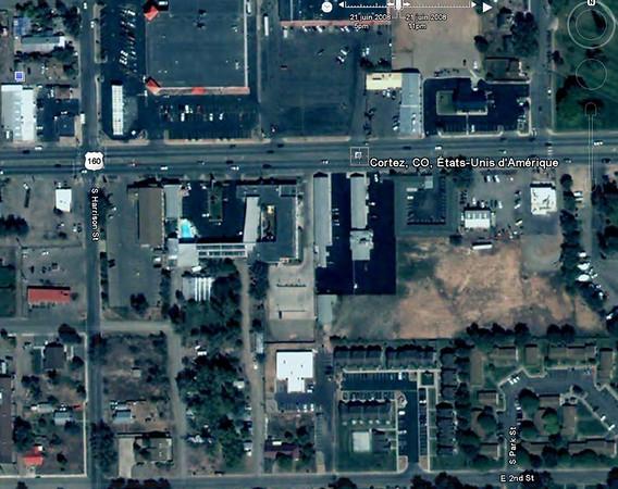 l'hotel, vue aérienne de Cortez, on voit la piscine