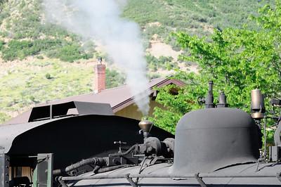 autentique vapeur de la locomotive à charbon!