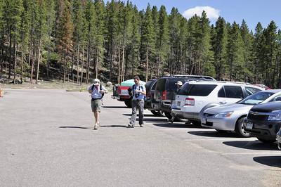 Nous arrivons au parking, il est 10h10, et nous sommes à 2620m de haut!