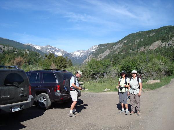 Dernière rando à Estes-Park dans les Rocky Mountain, Cub Lake. Il est 9h, le ciel est tout bleu