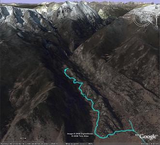 Notre rando sur Google earth