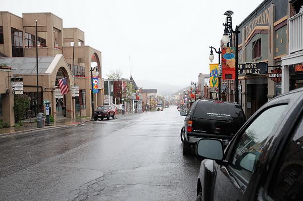 Park City la rue principale à 6h (1)