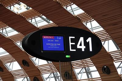 au départ, pour 11h de vol direct Paris/Salt lake city
