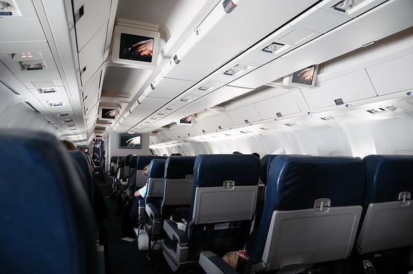 l'interieur du Boeing de Delta Airlines