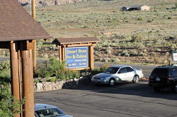 le panneau de l'hôtel