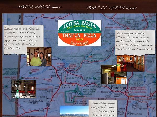 JJ avait (un peu!!) raté l'hôtel en arrivant à Cortez, par contre il avait trouvé cette super pizzeria au sud de la ville, qui a une magnifique terrasse, vue sur mesa!