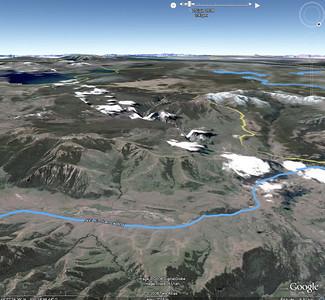 La Lamar Valley, sur Google Earth