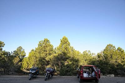 A 6H20, nous sommes sur le parking pour préparer le matos