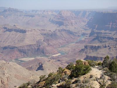 9h20: passage par Desert view, où on voit bien une boucle du Colorado