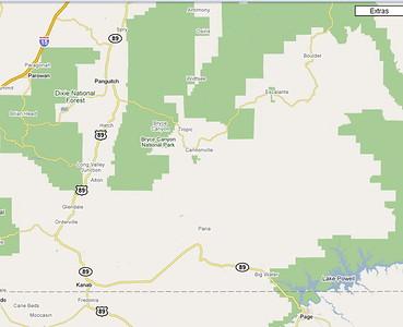 PREVISIONS: mercredi 13 mai Yellow Rock, puis route  vers Ecalante ( Cottonwood road)   Willis creek  et  Devil's Garden  3 nuits au  Circle D Motel  475 West Main Street Escalante, Utah