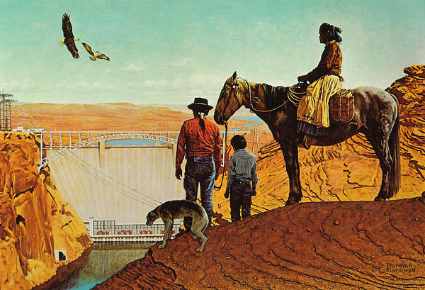 Glen Canyon Dam by Norman Rockwell (1894-1978)