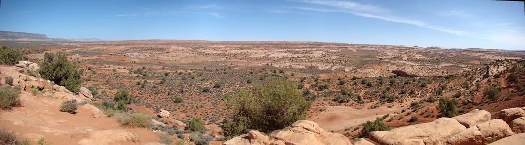 vue d'ensemble sur le  haut de la colline
