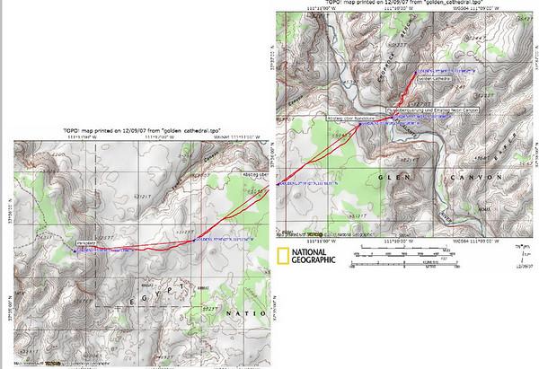 F.Zeher avait donné cette carte sur son site, on avait rentré grâce à lui les points GPS. Nous avons suivi au retour sa beeline