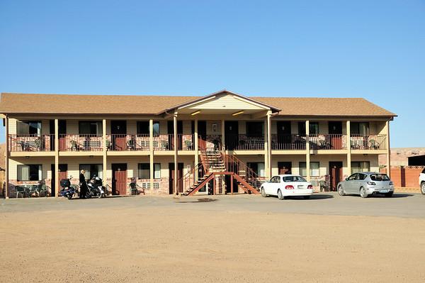 La partie à 2 étages du Whispering sand motel
