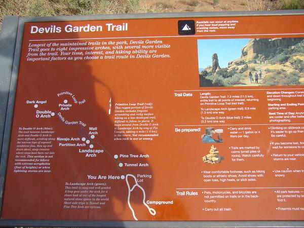 Réveil à 6h, départ  pour aller faire le tour de Devil's garden, dans Arches On démarre la rando à 7H,