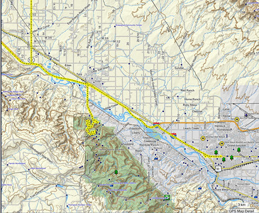 """Depuis Moab, notre """"détour"""" par Grand Junction, où nous faisons un plein chez Walmart, il n'y en a pas à Moab, puis Rei, et Colorado National"""