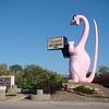Nous quittons Vernal, et passons devant cette magnifique statue de dinosaure