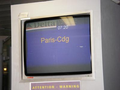 Vendredi 8 mai 2009,  le vol pour Paris de 7H20