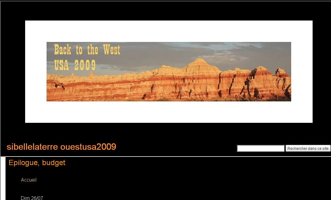"""<a href=""""http://sites.google.com/site/sibellelaterreouestusa/"""">http://sites.google.com/site/sibellelaterreouestusa/</a><br /> Marie Lefevre fait en famille de magnifiques voyages, dont elle ramène des photos et des carnets de toute beauté.<br /> Nous avions correspondu sur voyage forum à propos de Yellowstone, l'année dernière...."""