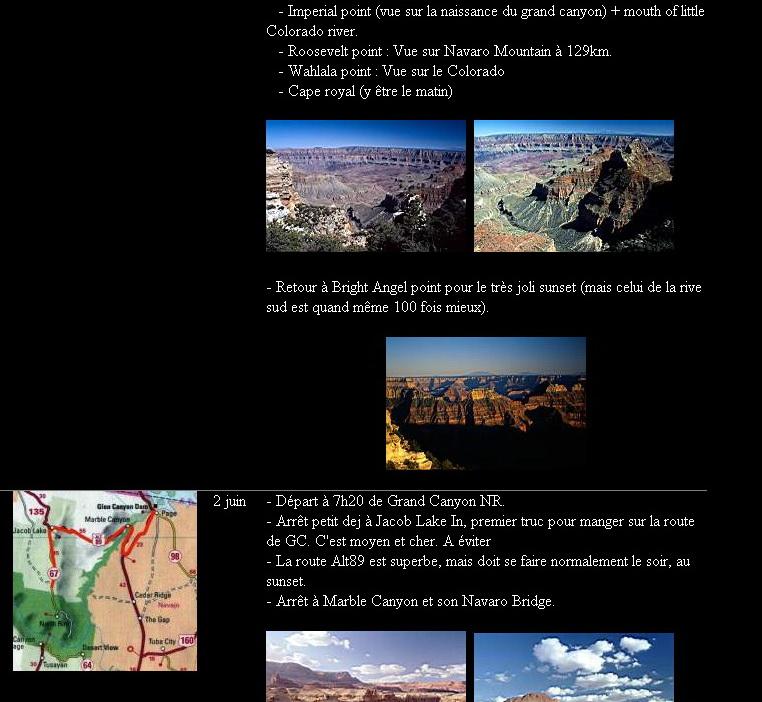 """<a href=""""http://sauvagere.free.fr/"""">http://sauvagere.free.fr/</a><br /> Sur ce site, il y a des carnets de voyage très bien faits, avec des cartes et les temps de parcours"""