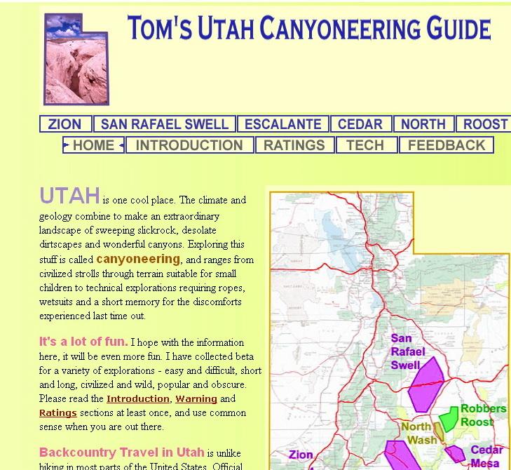 """Des cartes et des infos sur l'Utah.....<br />  <a href=""""http://www.canyoneeringusa.com/utah"""">http://www.canyoneeringusa.com/utah</a>"""