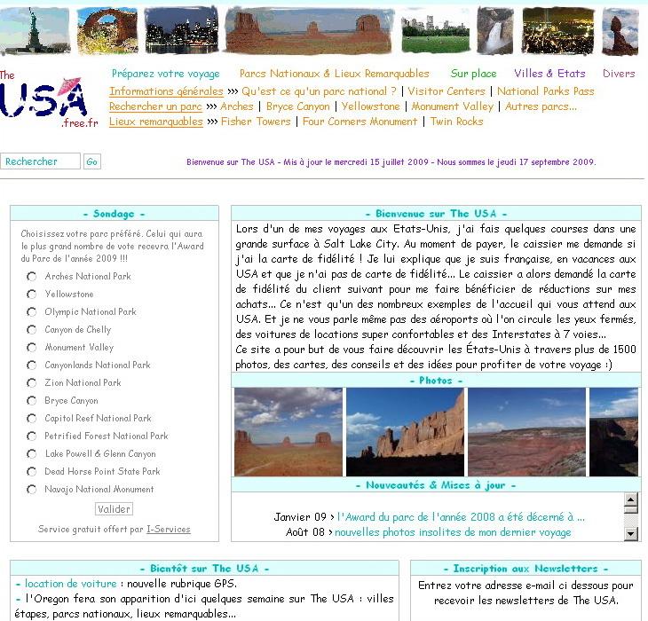 """<a href=""""http://theusa.free.fr/"""">http://theusa.free.fr/</a><br /> ce site est assez généraliste, comme le précédent, mais il y a plein d'infos à glaner!"""