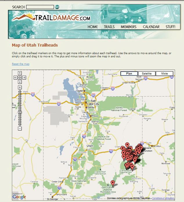 """<a href=""""http://www.traildamage.com/google_utah.php"""">http://www.traildamage.com/google_utah.php</a><br /> Des infos sur les trails en 4x4"""
