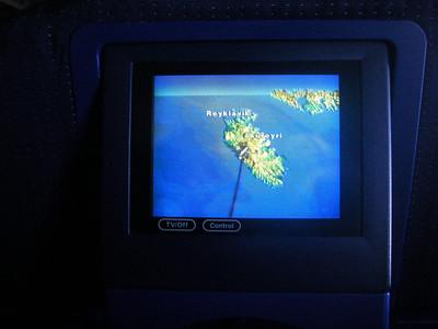 Passage au dessus de l'Islande, puis la banquise, on passera au dessus de Las Vegas....Juste quand je suis aux toilettes. GRRRRRRRRRRRRR