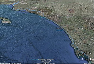 trajet Venice Beach San Diego