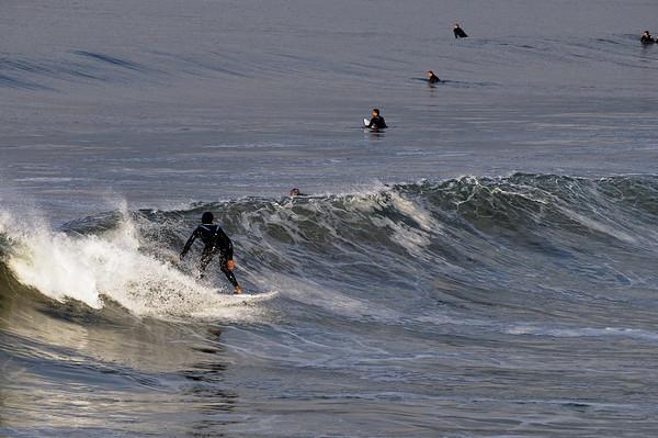 En janvier, les surfeurs