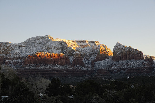 Sedona lever du soleil