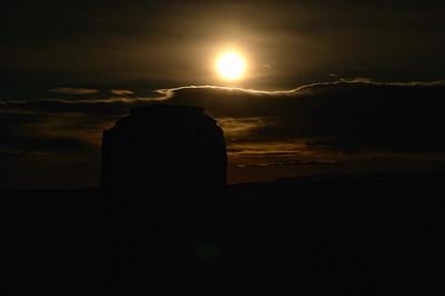 Monument valley, au clair de lune
