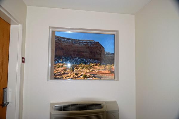 Non, ce n'est pas une photo sur le mur! C'est une fenêtre avec vue