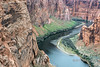 What the photographer was photograping<br /> <br /> Colorado River and sandstone cliffs downstream  from the Glen Canyon Dam near Page, Arizona