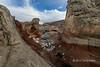 Back bowl with fresh snow, White Pocket, Vermillion Cliffs National Monument, Arizona,